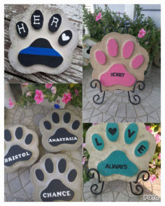 paw print stones for sale